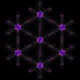Neon Snowflake Stock Photos