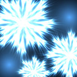 Neon snowflakes. Abstract background - the neon snowflakes Royalty Free Stock Image