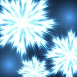 Neon snowflakes Royalty Free Stock Image