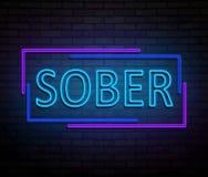 Neon sober concept. Royalty Free Stock Photos
