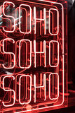 Neon Soho Sign Stock Images