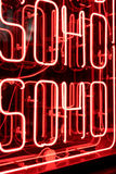 Neon-Soho-Zeichen Lizenzfreie Stockfotografie