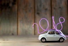 neon som 2018 ankommer Royaltyfri Bild