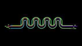 Neon sound wave equalizer vector background stock illustration