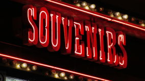 Neon Souvenirs Sign stock video