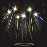 Neon spotlight background Royalty Free Stock Photography