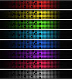 Neon square banners Royalty Free Stock Photos