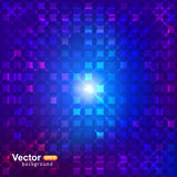 Neon squares background. And template concept Stock Photography