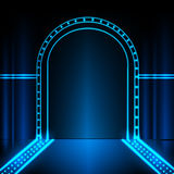 Neon stage background Stock Images