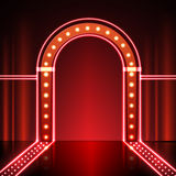 Neon stage background. Abstract Neon stage background illustration Royalty Free Stock Photo