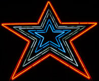 Neon Star about 100 ft tall. This is one big neon star! It is in Roanoke Virginia right off the Blue Ridge Parkway royalty free stock images