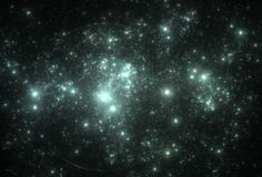 Neon star field in space Stock Photography