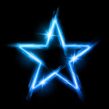 Neon star Stock Image