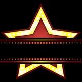 Neon star logo. Vector art illustration show business Stock Photos