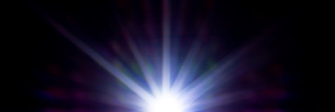 Neon star many rays. Abstract art, picture light Stock Images