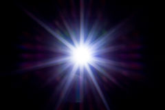 Neon star many rays. Abstract art, picture light Royalty Free Stock Photo