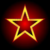 Neon Star Red Background Stock Photography