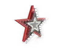 Neon star symbol Royalty Free Stock Photo