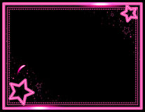 Neon Starburst Background. Stars and sparkle decorate this neon colored frame background Royalty Free Stock Photography