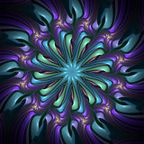 Neon starburst kaleidoscope Stock Photography