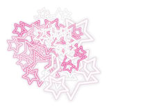 Neon Stars (). Neon Stars white background for best use your greeting card and background works Royalty Free Stock Photo