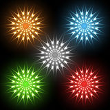 Neon stars Royalty Free Stock Images