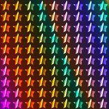 Neon stars. Background with neon stars and spectrum colors Stock Images