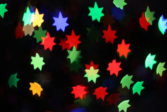 Neon stars holiday background Royalty Free Stock Photo