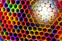 Neon Straws 1 Royalty Free Stock Photos