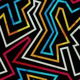 Neon streift nahtloses Muster Stockbilder