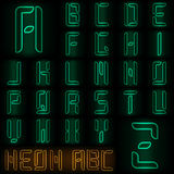Neon style alphabet Stock Photography