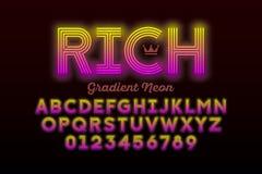 Neon style font vector illustration
