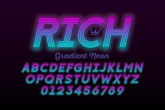 Neon style font royalty free illustration