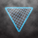 Neon Style Triangle Techno Background. Outer Space Poster Illust Royalty Free Stock Photography
