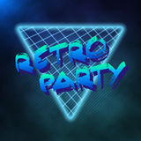 Neon Style Triangle Techno Background. Outer Space Poster  Royalty Free Stock Photos
