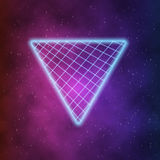 Neon Style Triangle Techno Background. Outer Space Poster   Stock Image