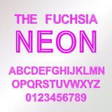 Neon Style vector font alphabet abc Royalty Free Stock Image