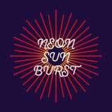 Neon sunburst. Firework explosion, star, rays of light. Vector Illustration10 eps Royalty Free Stock Photography