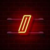 Neon symbol slash sign. City signboard. Vector illustration. Collection Stock Image