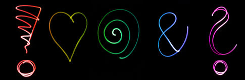 Neon symbols Royalty Free Stock Images