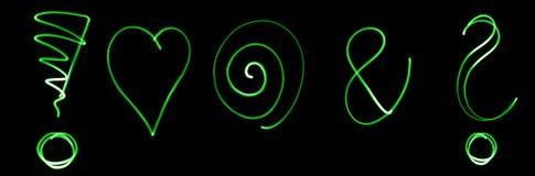 Neon symbols Stock Photography