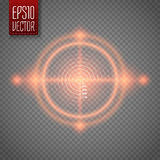 Neon Target . Game Interface Element. Vector Royalty Free Stock Image