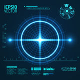Neon Target . Game Interface Element. Vector. Illustration Royalty Free Stock Photo