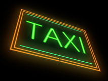 Neon taxi sign. Royalty Free Stock Photography