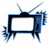 Neon television Royalty Free Stock Image