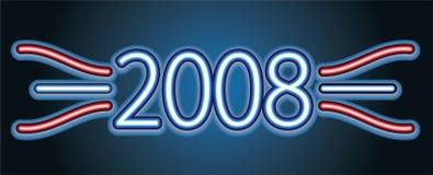 Neon text. 2008. Vector illustration Vector Illustration