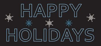 Neon text Happy Holidays Royalty Free Stock Images