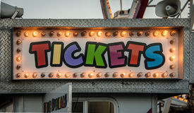 Neon ticket sign Royalty Free Stock Photo