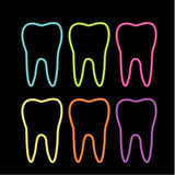 Neon Tooth Graphic For Dentist Stock Photography