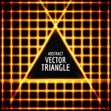 Neon triangle vector. Abstract  shape for text.   glow effect Royalty Free Stock Images
